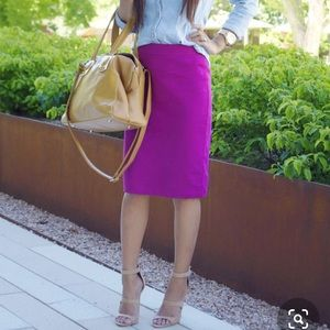 The Limited Magenta Pink Pencil Skirt